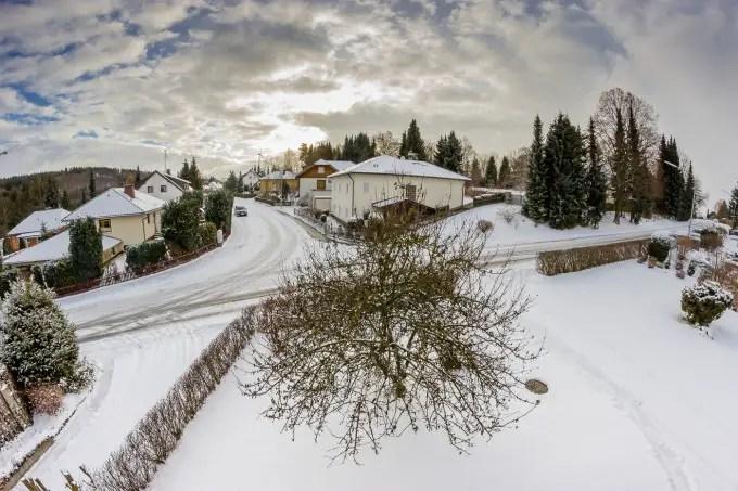 Winter vor der Haustür