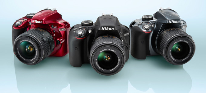 Nikon D3300 in drei Farbvarianten