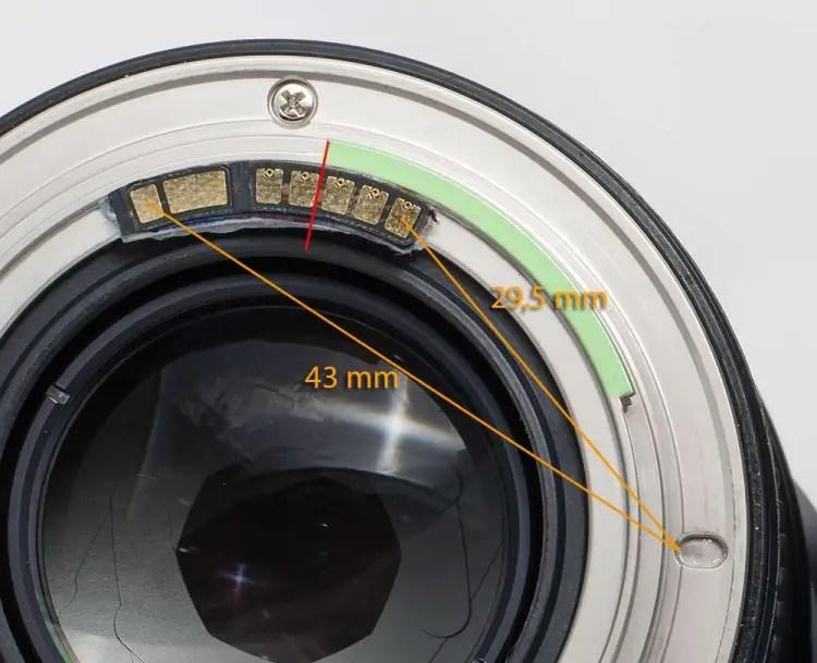 Der Dandelion AF-Chip am Walimex 85mm 1.4