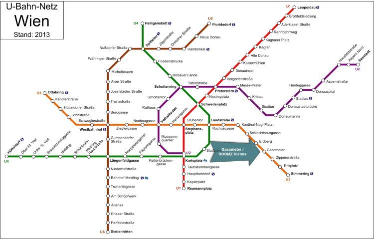 U-Bahn Netz Wien