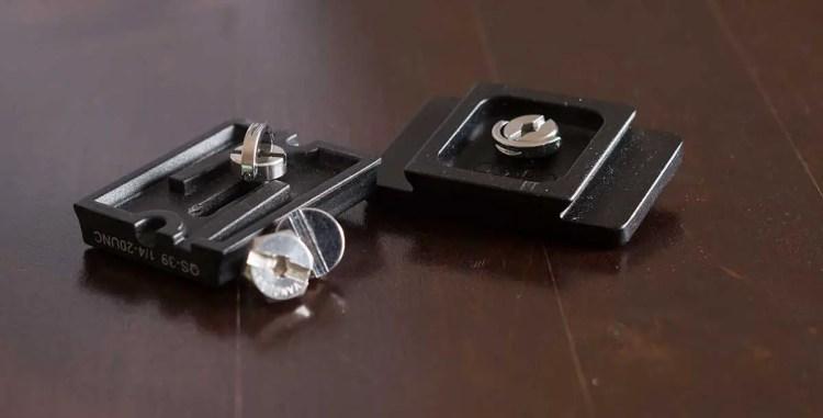 MENGS 1/4 Zoll Schraube für Wechselplatten und die Originalschrauben.