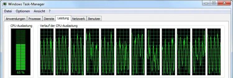 CPU-Auslastung beim Export in Lightroom 5.7