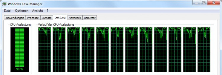 CPU-Auslastung beim Bilderexport in Lightroom 6 / CC