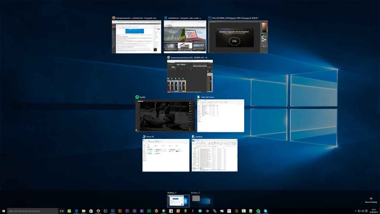 Virtuelle Desktops in Windows 10