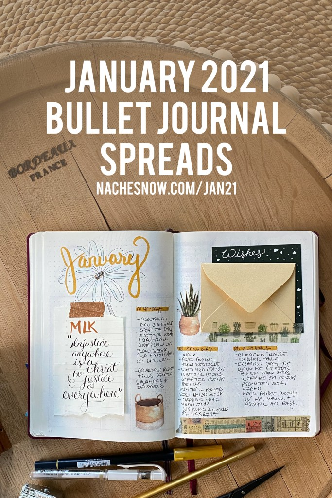 2021 January MLK Themed Bullet Journal Spreads // Plan With Me