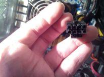 Conector de 8 pines, tuve que improvisar uno como este