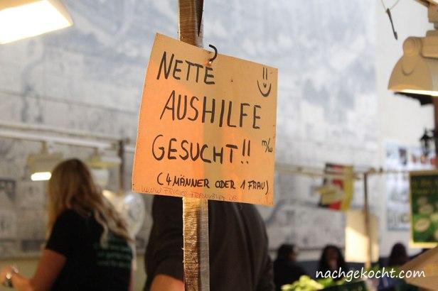 Kleinmarkt Halle Schild Aushilfegesucht