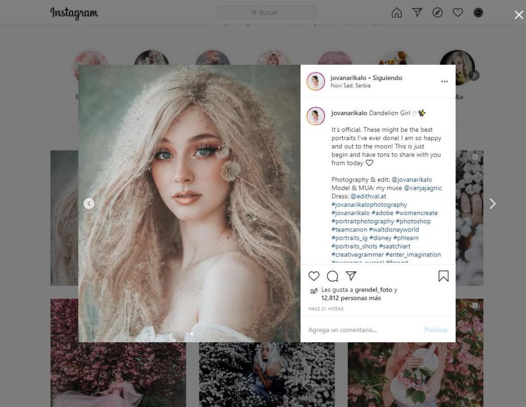 Instagram de jovanarikalo