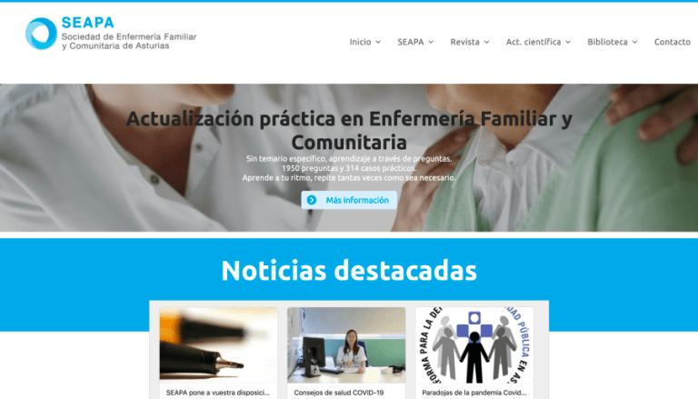 Web Sociedad Enfermería Comunitaria