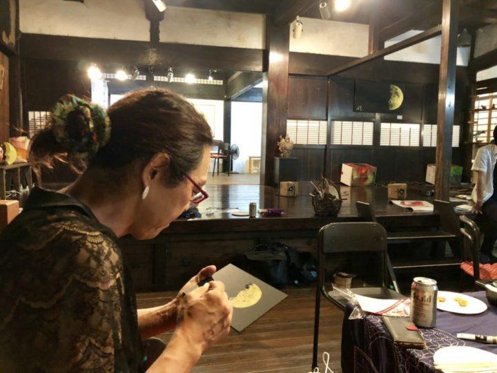 ガリレオの月を描く 安冨歩教授 月の祭り展 古民家ギャラリーかぐやにて