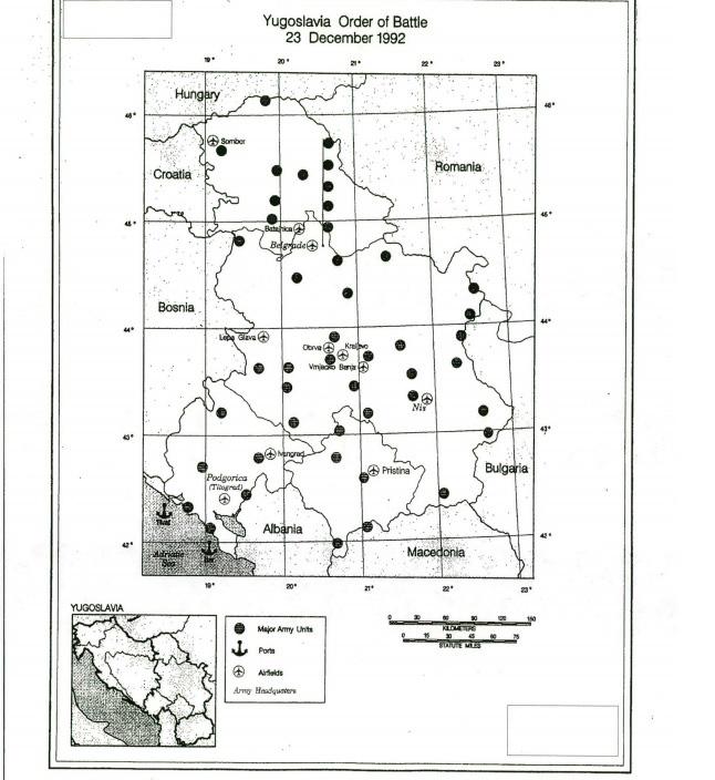План ЦИА за уништење Србије, Фото: CIA GOV