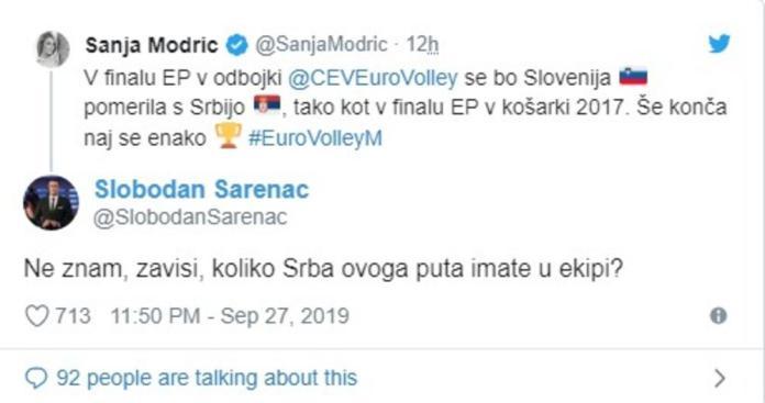 ШАРЕНАЦ ХИТ НА ДРУШТВЕНИМ МРЕЖАМА! Његов одговор колегиници из Словеније УСИЈАО интернет! 1