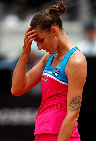 Increíble reacción de Karolina Pliskova en el Abierto de Italia