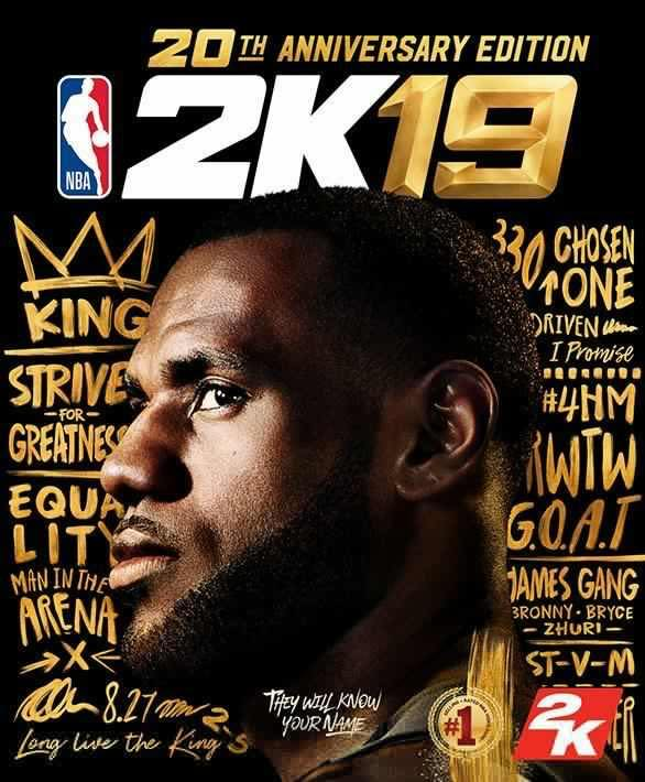 Lebron James estará en la portada del NBA 2K19