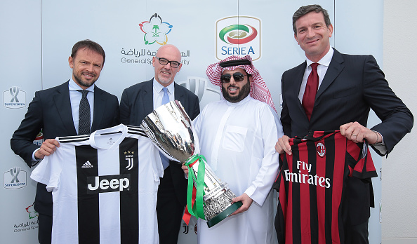 La Supercopa de Italia se jugará en Arabia Saudita.