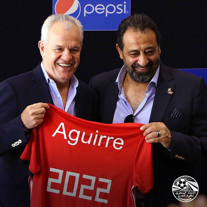 Aguirre fue presentado como entrenador de Egipto
