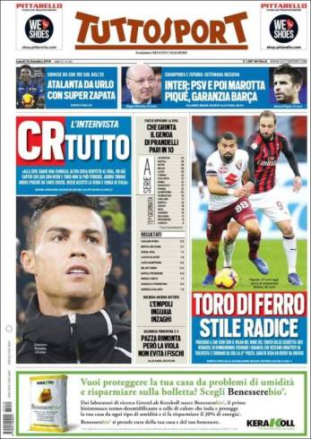 diarios deportivos del 10 de diciembre de 2018