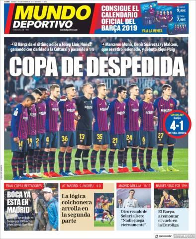 diarios deportivos del 6 de diciembre de 2018