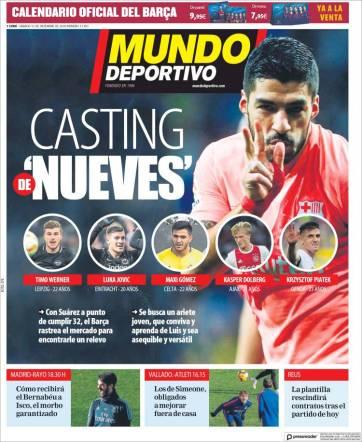 Barcelona está en la búsqueda del sustituto de Luis Suárez. (Mundo Deportivo)