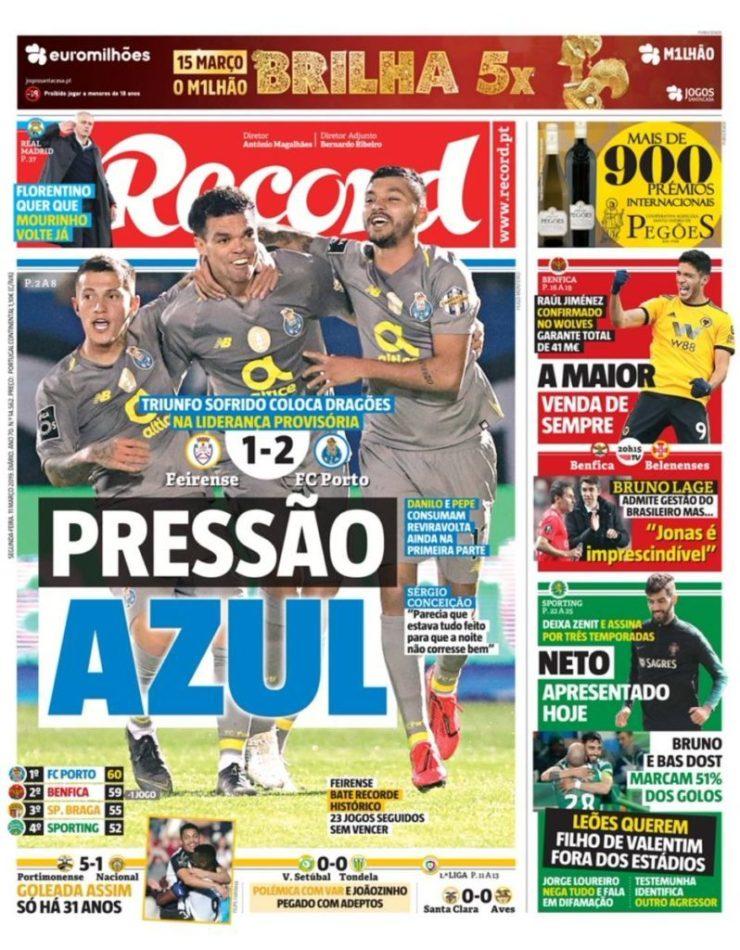 diarios deportivos del 11 de marzo de 2019