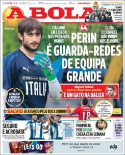 Mattia Perin, portero de la Juve, estaría cerca de firmar por el Benfica. (A Bola)