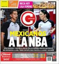 Dos árbitros mexicanos por primera vez pertenecerán a la NBA. (Cancha)
