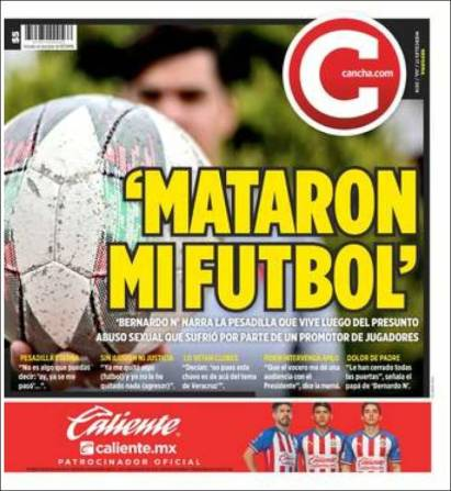 'Bernardo N' aseguró que mataron su sueño de ser futbolista profesional tras el abuso sexual que sufrió con el equipo de Veracruz. (Cancha)