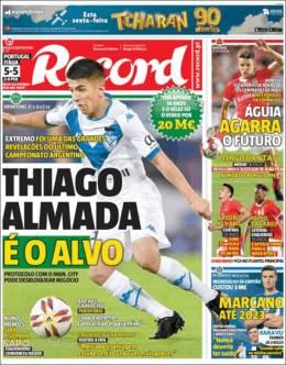 El argentino Thiago Almada está en el radar del Sporting de Lisboa. (Record)