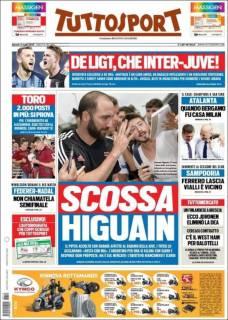 Gonzalo Higuaín fue ovacionado en su retorno a la Juventus. (Tuttosport)