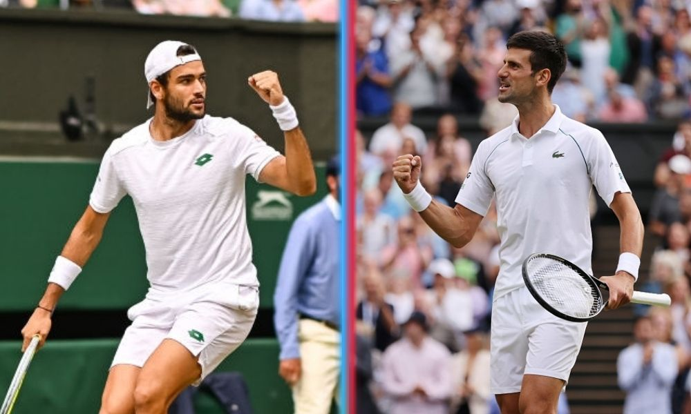Berrettini y Djokovic jugarán la final de Wimbledon