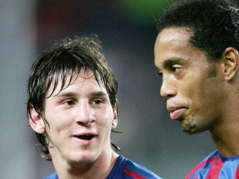 Ronaldinho espera que Messi se quede en Barcelona