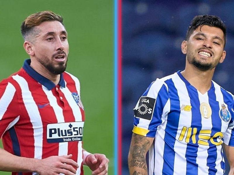 Tecatito y Héctor Herrera en Champions