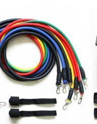 Träningsbands set med 11 delar - Resistance band