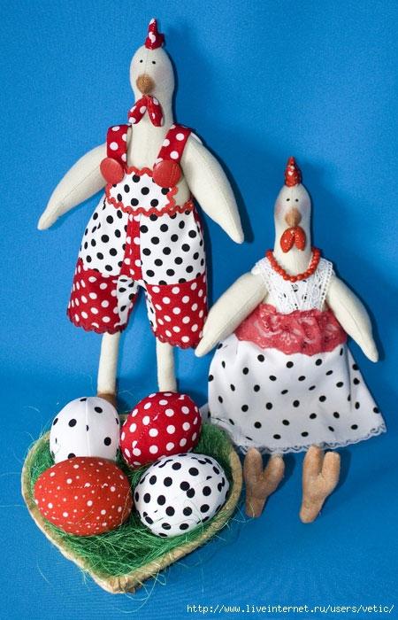 雄鸡和鸡肉在tilda的风格