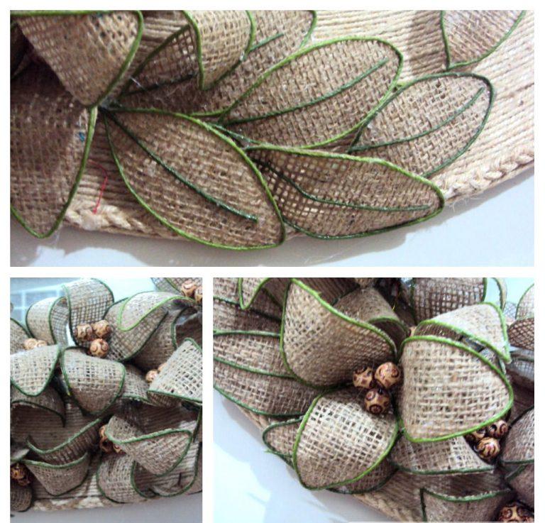 Hoa vải bố với dây