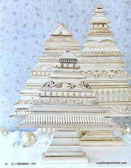 Рождестволық ағаштар мұны өзіңіз жасайды