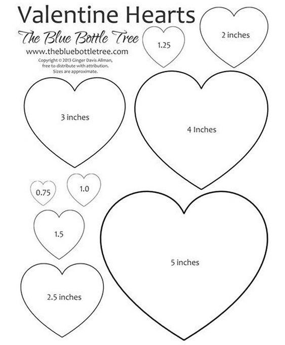 шаблоны сердечек для вырезания