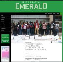 Front webpage of South Seattle Emerald site