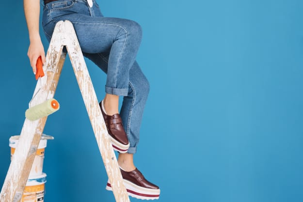 mulher na escada