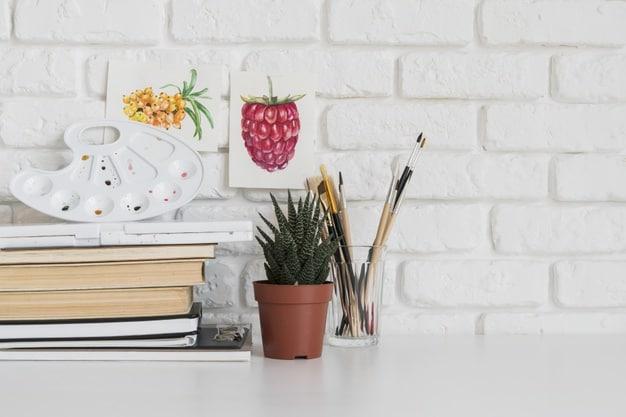 plantas frutíferas em vaso