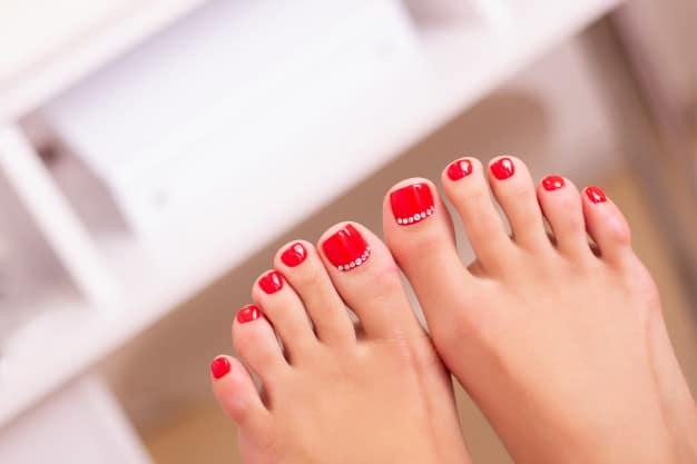 unhas decoradas do pé