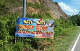 Jalur Lintas Riau-Sumbar Dipasang Baliho Petunjuk Jalan
