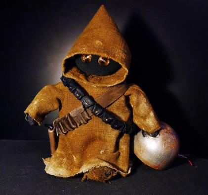 Star Wars jawa aus Upcycling Materialien