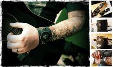 Upcycling Leder-Armband aus einem alten Gitarrengurt