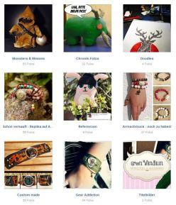 Auf meiner Facebookseite (Green Wandalin) findet ihr alle Accessoires und kleine Monster, die ich so bastle