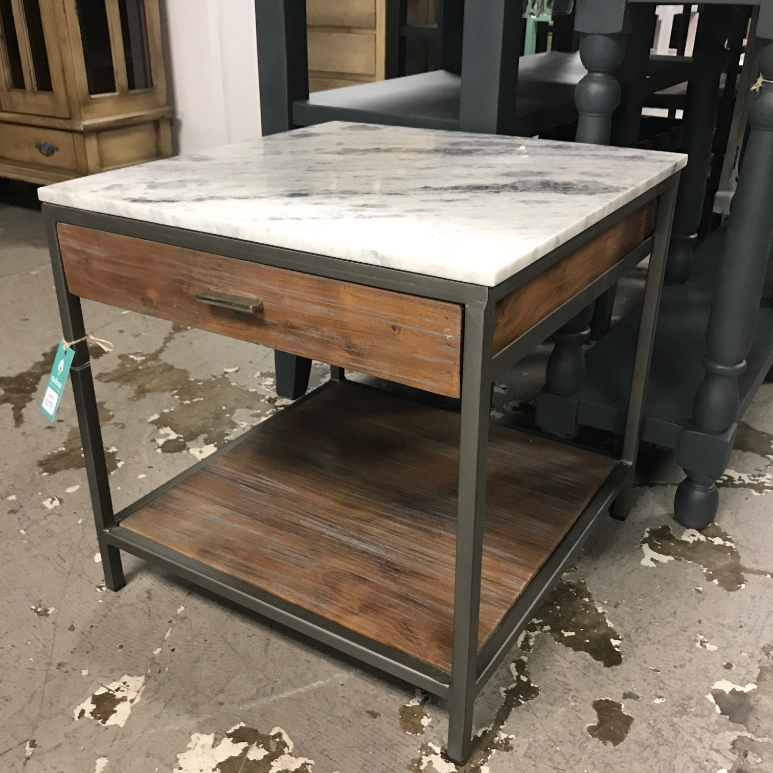 Marble Top Side Table With Drawer Nadeau Nashville