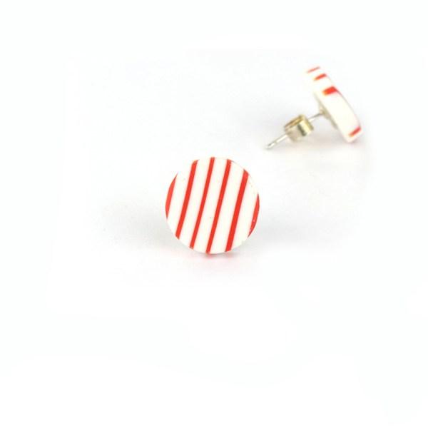 BRETON studs orange stripesby nadege honey