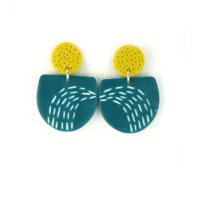 contemporary earrings in polymer clay