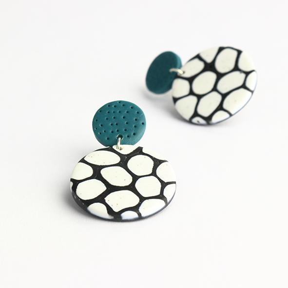 monochrome earrings by nadege honey
