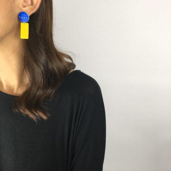 Funky earrings by Nadege Honey